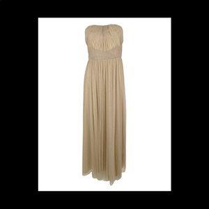 NWT Ralph Lauren Evening Gown Champaign Silver